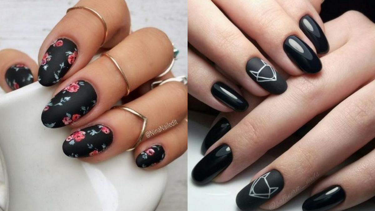 Czarny manicure na każdą okazję- 20 najpiękniejszych inspiracji i wzorów