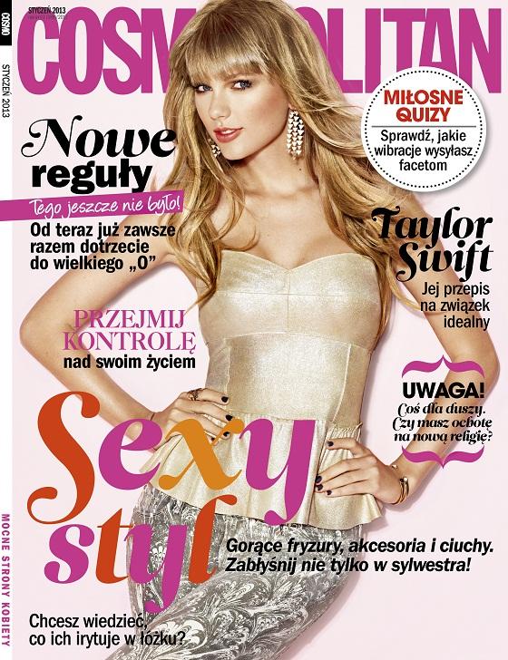Taylor Swift na okładce styczniowego Cosmopolitan