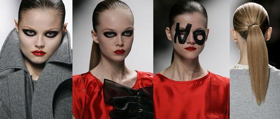 viktor & rolf, uroda, trendy, jesień, usta, oczy, makijaż, wizaż