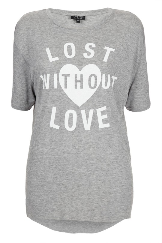 Koszulki z napisami od TopShop