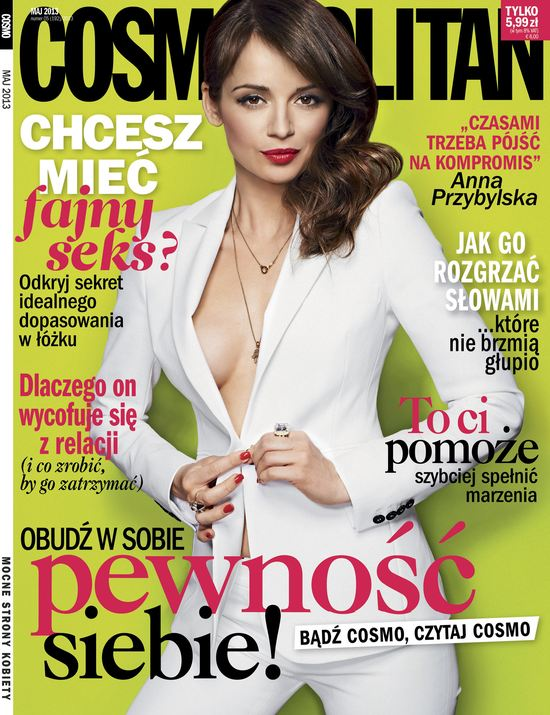 Anna Przybylska na 16. urodziny Cosmopolitan