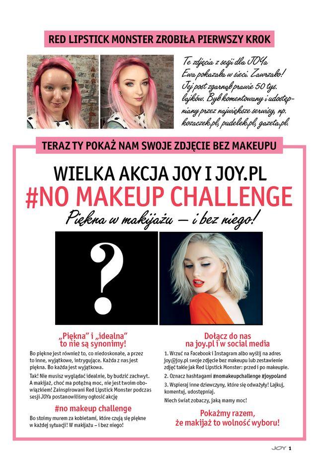Świetna akcja Joy'a - #NOMAKEUPCHALLENGE - weźmiesz w niej udział?