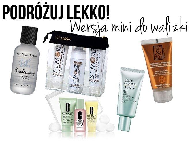 kosmetyki w wersji mini
