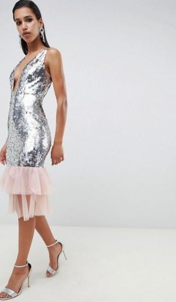 Srebrna sukienka w stylu Blake Lively i Kim Kardashian będzie modna w karnawale