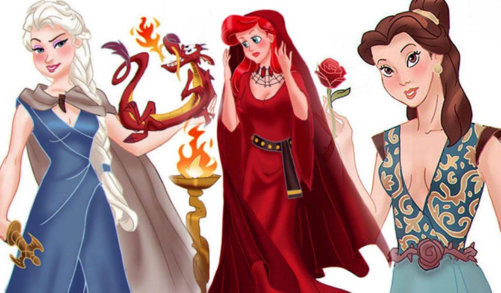 Wojownicze Postacie Z Gry O Tron Jako Ksieżniczki Disneya