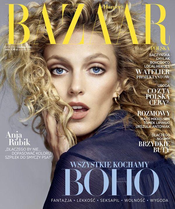 Anja Rubik na okładce czerwocego numeru Harper's Bazaar!