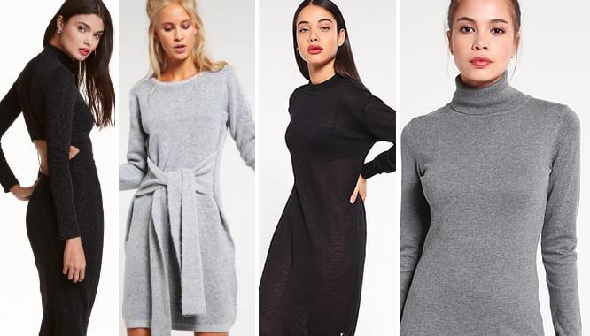 ea05ea45a0 Modne sukienki z dzianiny dresowej na zimę 2016 - Zeberka.pl