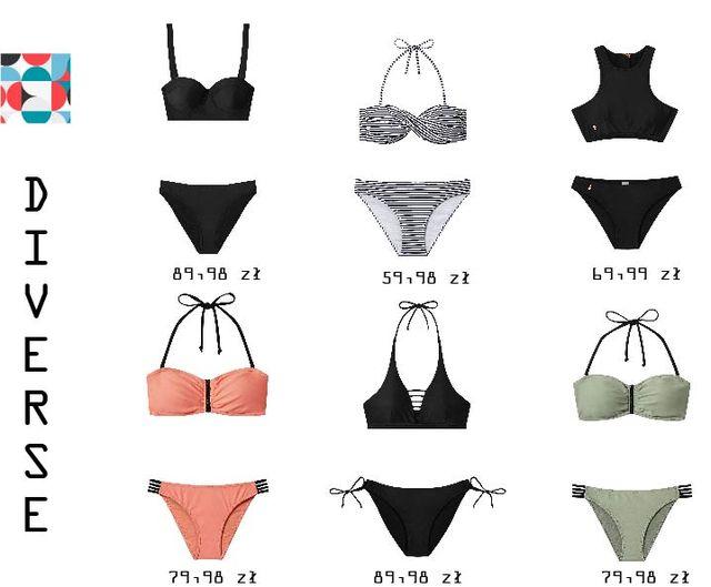 Stroje kąpielowe w różnych stylach - przegląd oferty sieciówek (FOTO)