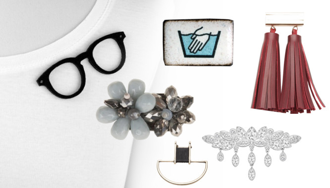 broszka z kryształami