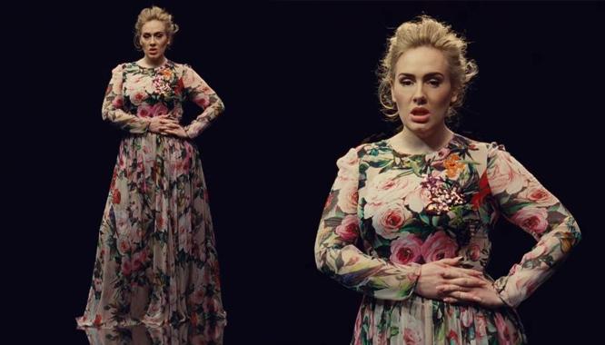Adele zachwyca w sukience DolceandGabbana w najnowszym teledysku