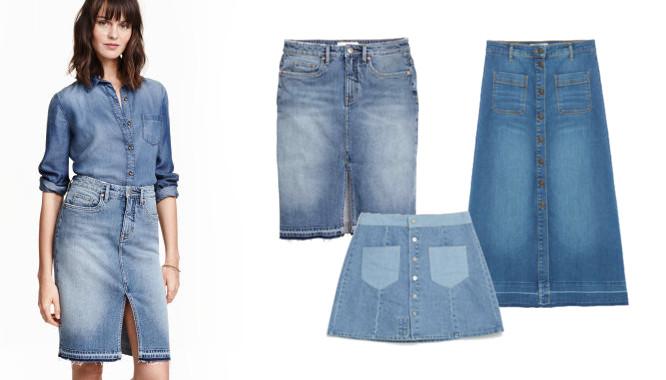 spódnice jeansowe