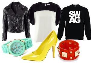 czarno biała moda