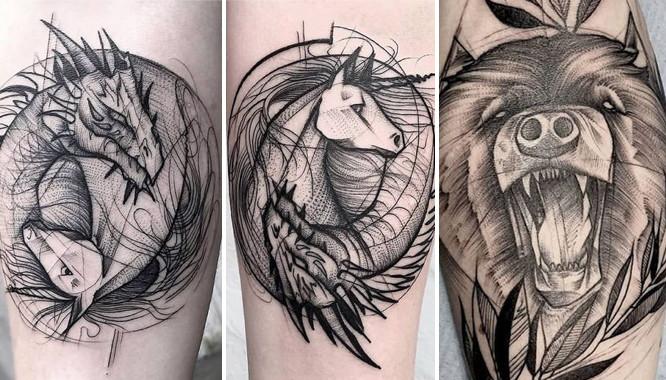 Uwaga! Szkicowane tatuaże to nowy gorący trend, który pokochacie (FOTO)