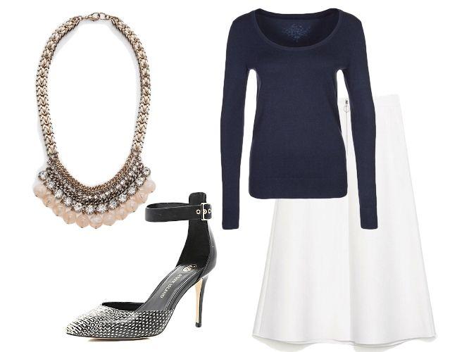 biała spódnica