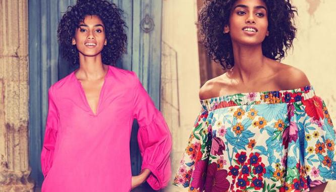 HandM Życie w kolorze - Mocne kolory i kobiece fasony na lato 2017