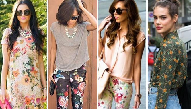 ubrania w kwiay