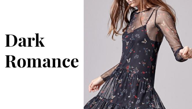Stradivarius Dark Romance - Czerń i odrobina romantyzmu na jesień 2016