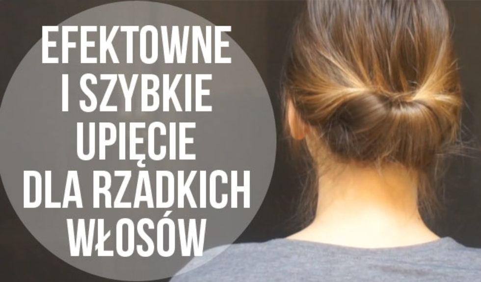 Fryzury Dla Cienkich Włosów Efektowny Koczek Video Zeberka