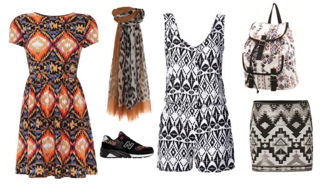 ubrania we wzory
