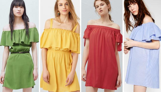 sukienki z odkrytymi ramionami