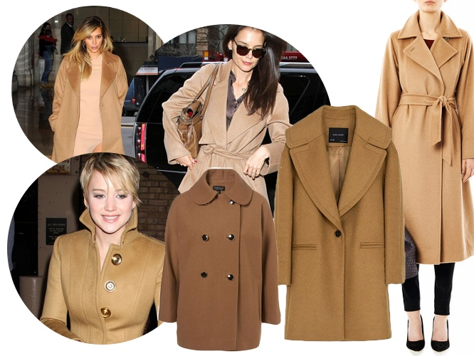 płaszcz w kolorze camel