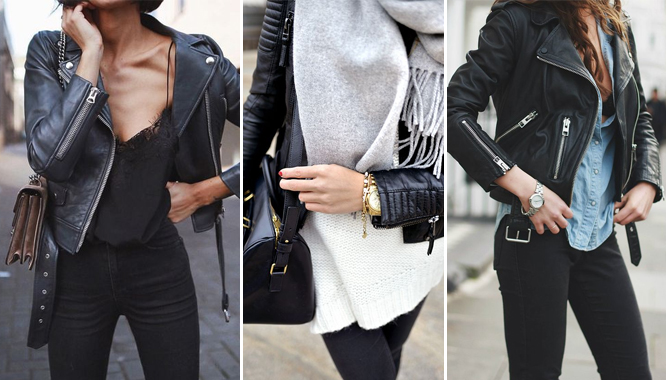 Czarna ramoneska w roli głównej - zainspirujcie się tymi stylizacjami!