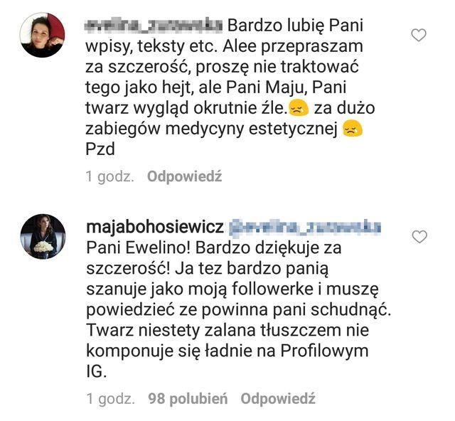 Maja Bohosiewicz zaatakowana w komentarzach. Tym razem nie wytrzymała i...