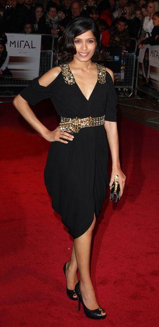 Freida Pinto w sukience od Alexandra McQueena