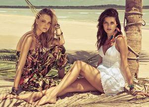 Isabeli Fontana & Caroline Trentini w letnich klimatach