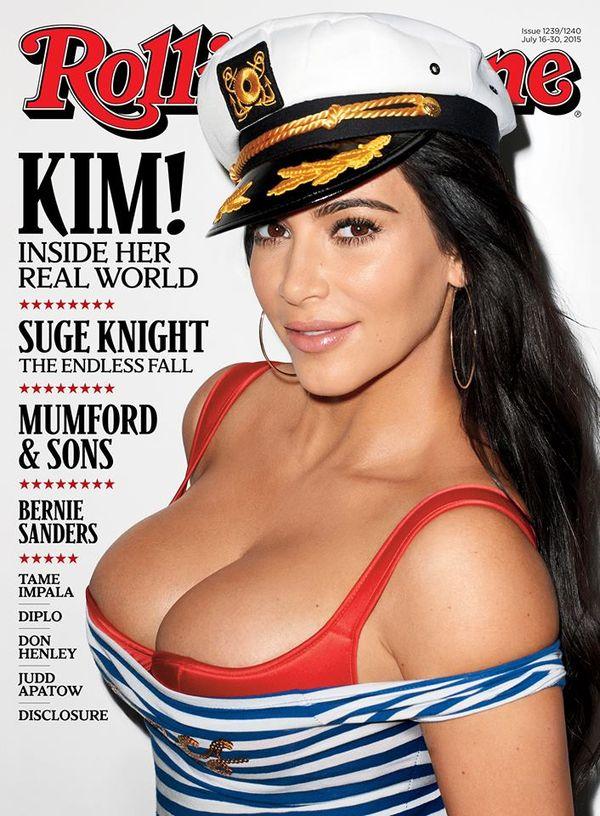 Jak myślicie - co Kim pokazała na okładce Rolling Stone?