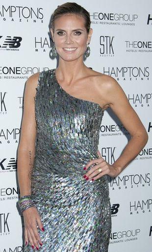 Heidi Klum w sukience Monique Lhuillier (FOTO)