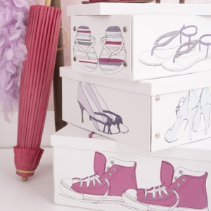 Ozdobne pudełka na buty