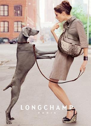 Coco Rocha w kampanii reklamowej Longchamp