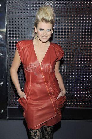 Marysia Sadowska w skórzanej sukience