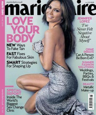 Jennifer Lopez na okładce Marie Claire
