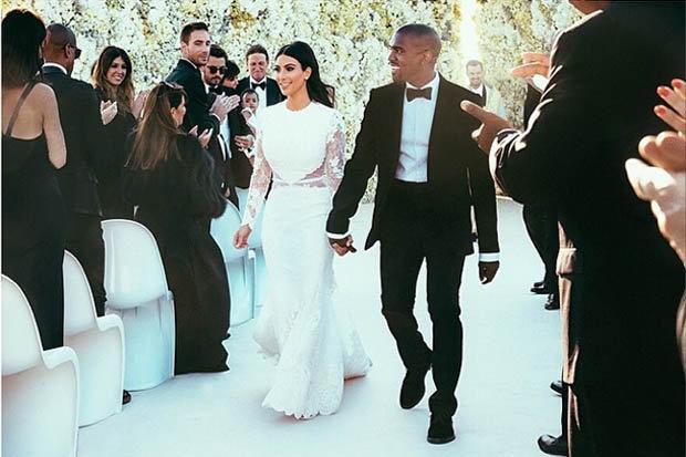 Na weselu Kim i Kanye był DIETETYCZNY tort!