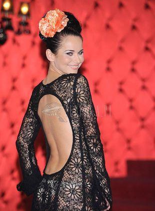 Ażurowa suknia Pauliny Sykut