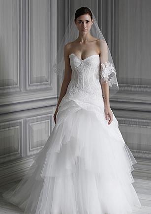 Monique Lhuillier - suknie ślubne na wiosnę 2012