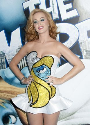 Blond Katy Perry w sukience The Blonds (FOTO)