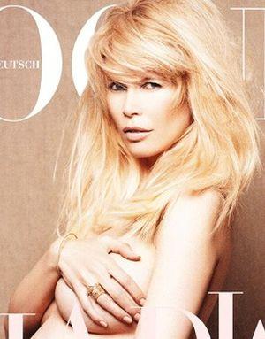 Claudia Schiffer na okładce Vogue