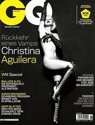 Naga Chrisitna Aquilera na okładce GQ