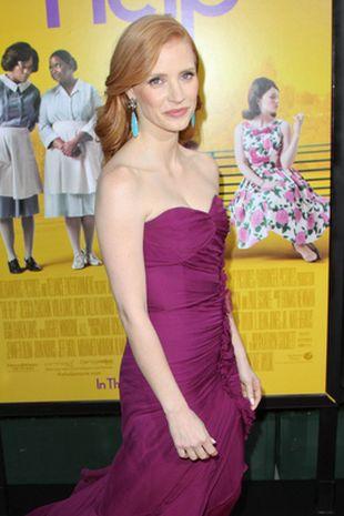 Jessica Chastain w sukni Oscara de la Renta (FOTO)