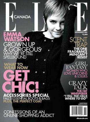 Emma Watson na dwóch okładkach Elle