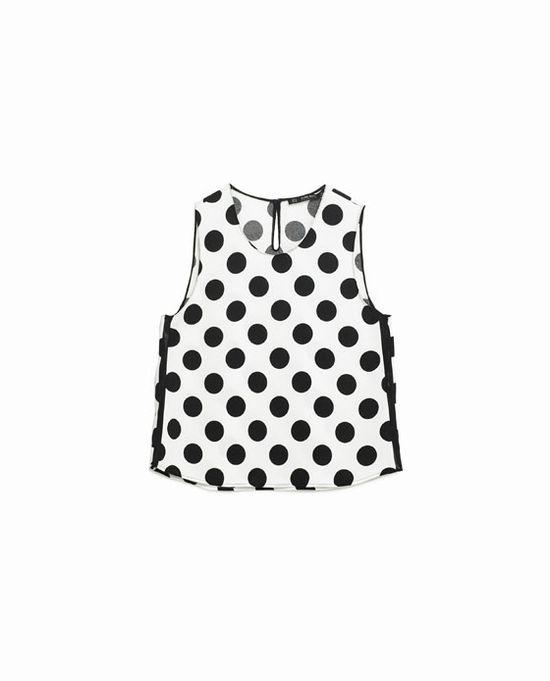 Zara Monochrome Dots - Czerń i biel w wiosennym wydaniu