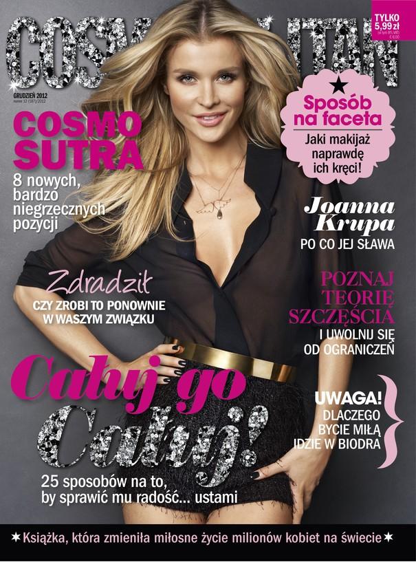 Joanna Krupa na okładce grudniowego wydania Cosmopolitan