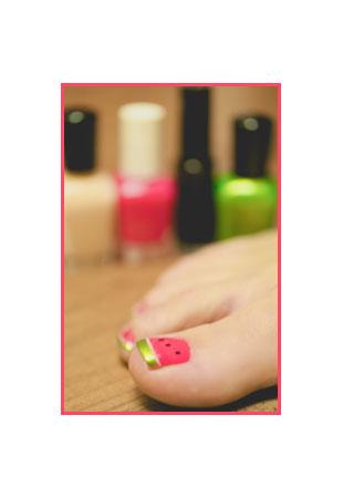 Arbuzowy pedicure i manicure