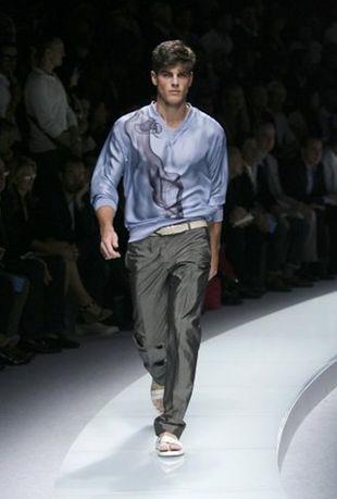 Mężczyzna na wiosnę i lato według Versace