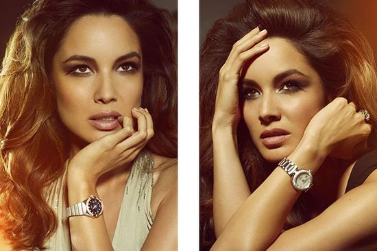 Berenice Marlohe w kampanii zegarków Omega