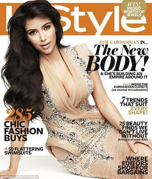 Kim Kardashian na okładce InStyle