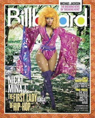 Nicki Minaj na okładce magazynu Billboard